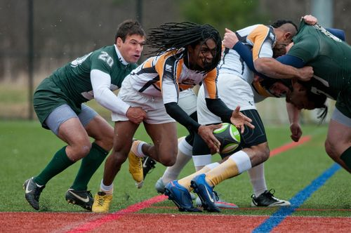 UNH 7s Dartmouth AIC Derek Fish Corey Burton scrum tackle